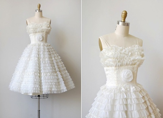 Vintage wedding dress bridal gown inspiration from Etsy LWD.