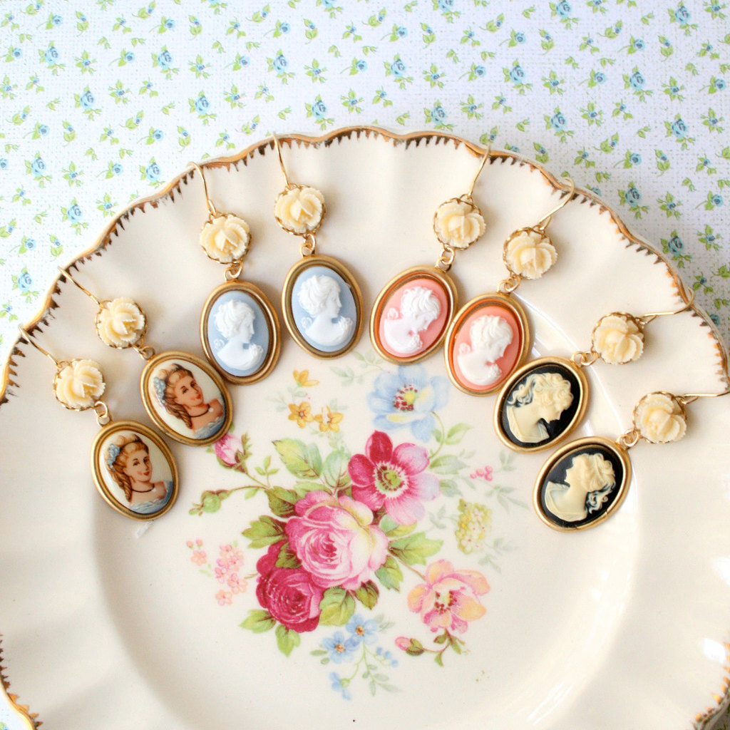 Vintage-wedding-ideas-cameo-infused-weddings-from-etsy-earrings-for-bridesmaids.full