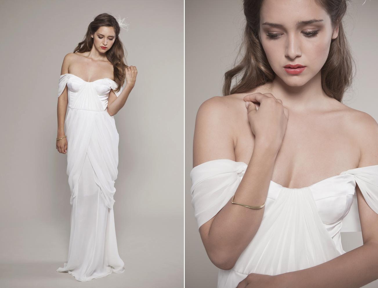 2013 Wedding Dress Off The Shoulder White