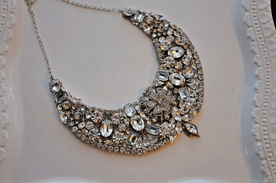 statement wedding jewelry bridal necklace Etsy handmade 15
