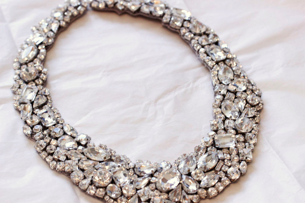 Statement Wedding Jewelry Bridal Necklace Etsy Handmade 2