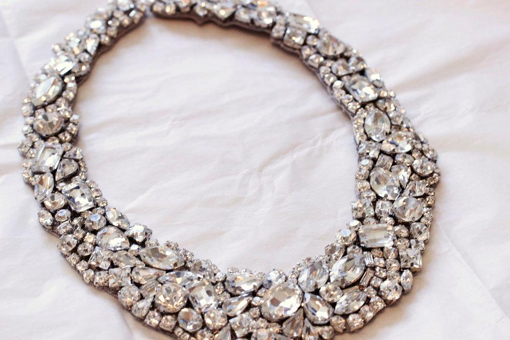 Statement Wedding Jewelry Bridal Necklace Etsy Handmade 13