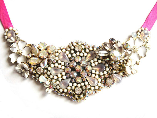 statement wedding jewelry bridal necklace Etsy handmade 11