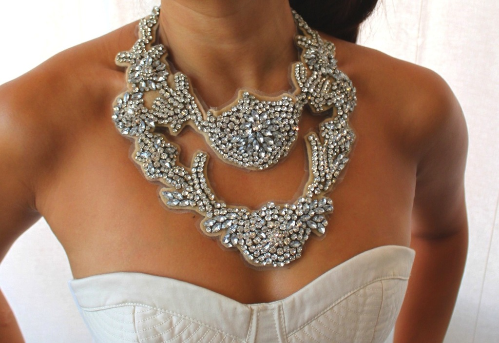 statement wedding jewelry bridal necklace Etsy handmade 10