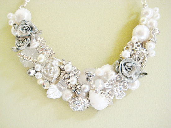 statement wedding jewelry bridal necklace Etsy handmade 9