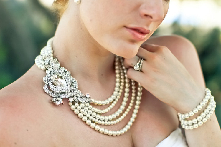 statement wedding jewelry bridal necklace Etsy handmade 5