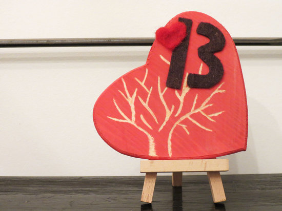 love themed wedding ideas hearts table numbers