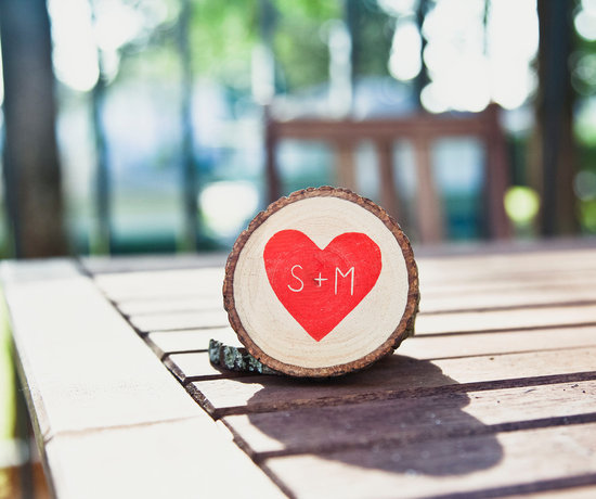 personalized wedding finds rustic weddings heart with initials