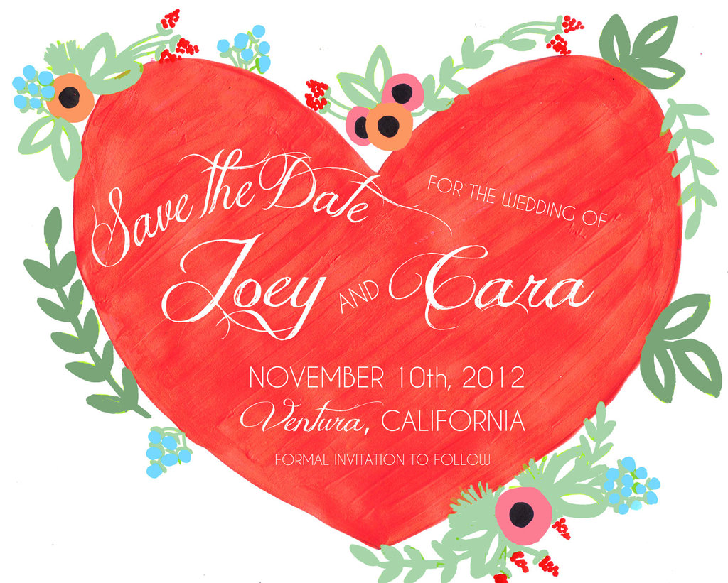 Handpainted-wedding-save-the-date-red-green-heart.full