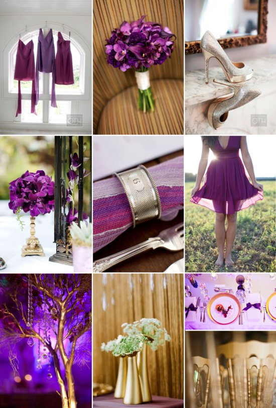 grape and gold wedding colors inspiration elegant bold