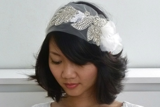 chic bridal headbands unique wedding hair accessories touches of sheer
