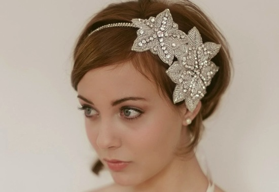 chic bridal headbands unique wedding hair accessories 1920s inspired
