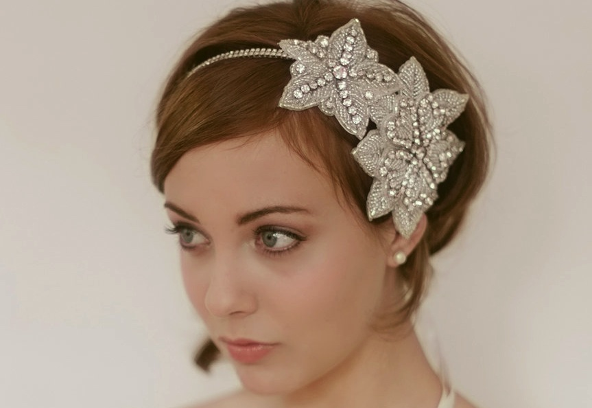 chic bridal headbands unique wedding hair accessories 1920s inspired ...