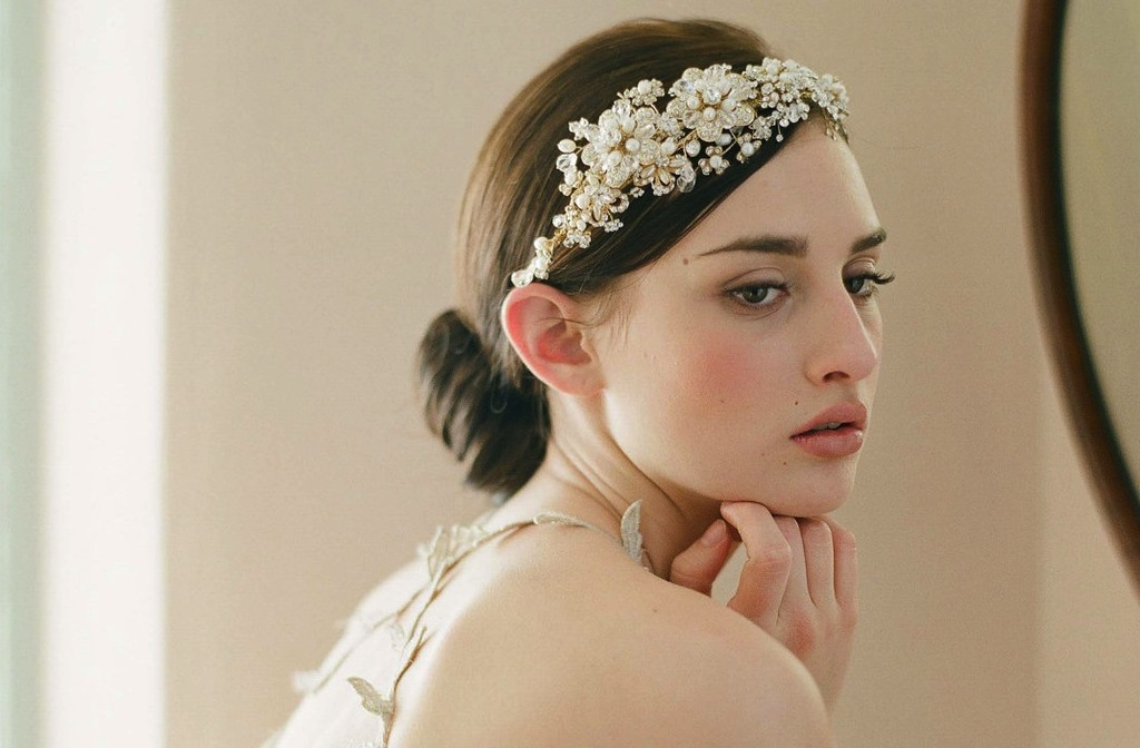 chic bridal headbands unique wedding hair accessories Twigs n Honey 1