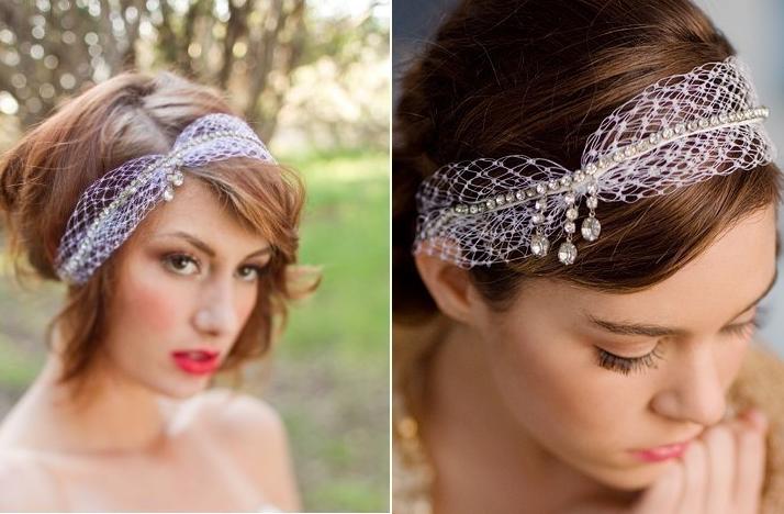 hair accessories for brides seeking the unique bridal headbands
