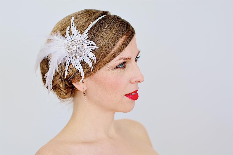 chic bridal headbands unique wedding hair accessories 1 | OneWed.com