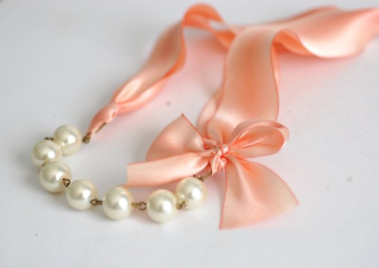 Bridal accessories romantic necklace.