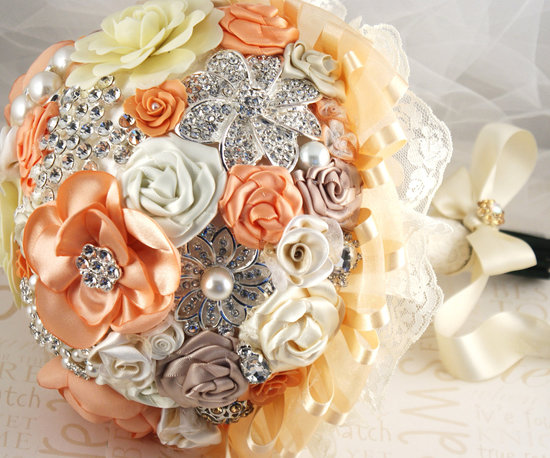 Romantic weddings brooch bouquet.