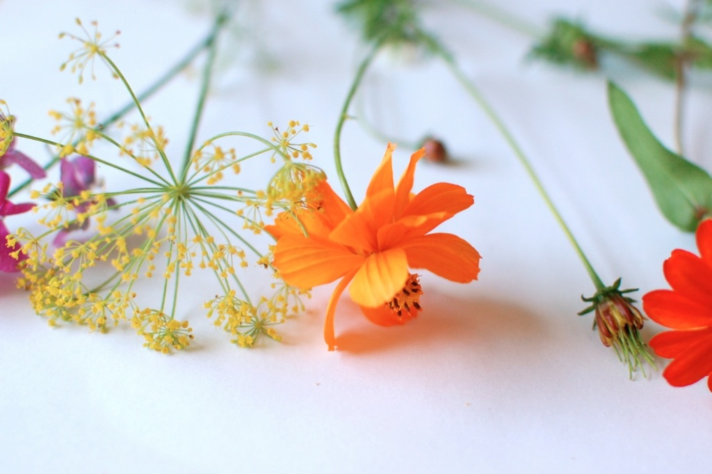 wedding color inspiration for brides from Etsy weddings Marigold reception flowers