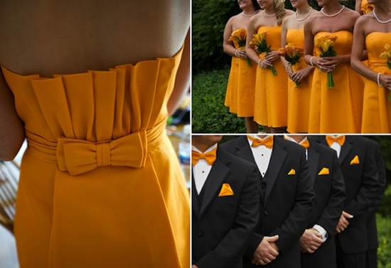 marigold wedding inspiration bridesmaids groomsmen