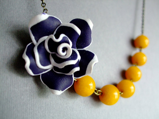 wedding color inspiration for brides from Etsy weddings Marigold bridesmaid necklace