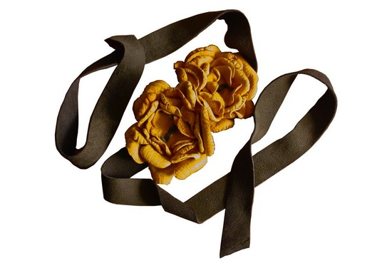 wedding color inspiration for brides from Etsy weddings Marigold belt for rustic wedding