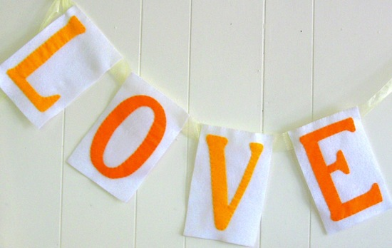 wedding color inspiration for brides from Etsy weddings Marigold love banner