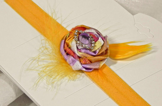 wedding color inspiration for brides from Etsy weddings Marigold bridal sash