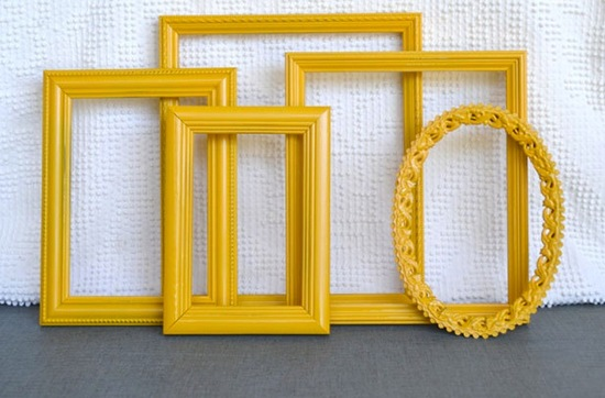 wedding color inspiration for brides from Etsy weddings Marigold frames