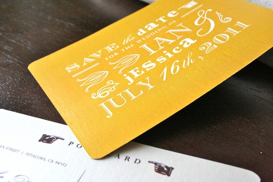 wedding color inspiration for brides from Etsy weddings Marigold save the date