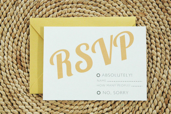 wedding color inspiration for brides from Etsy weddings Marigold RSVP
