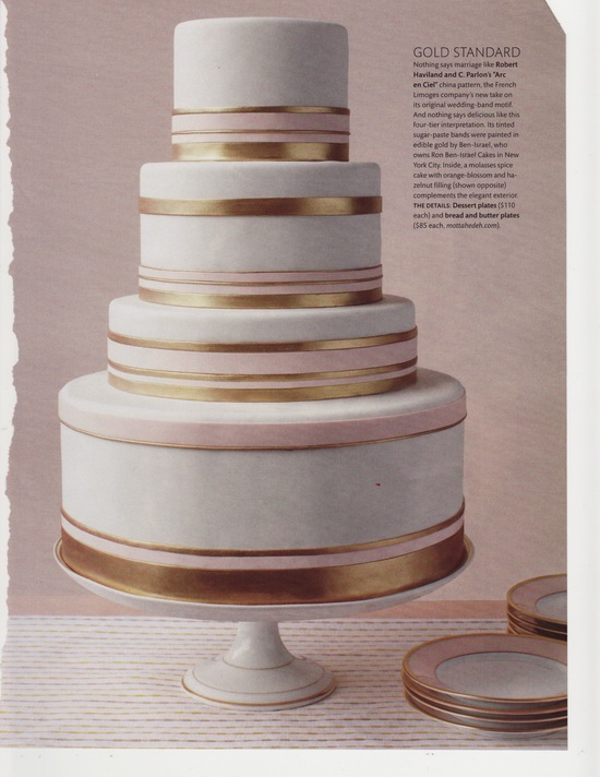 elegant wedding cake gold bands