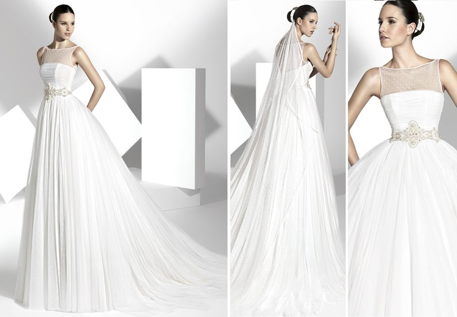 2013 wedding dress Franc Sarabia bridal gowns Spanish designers 17