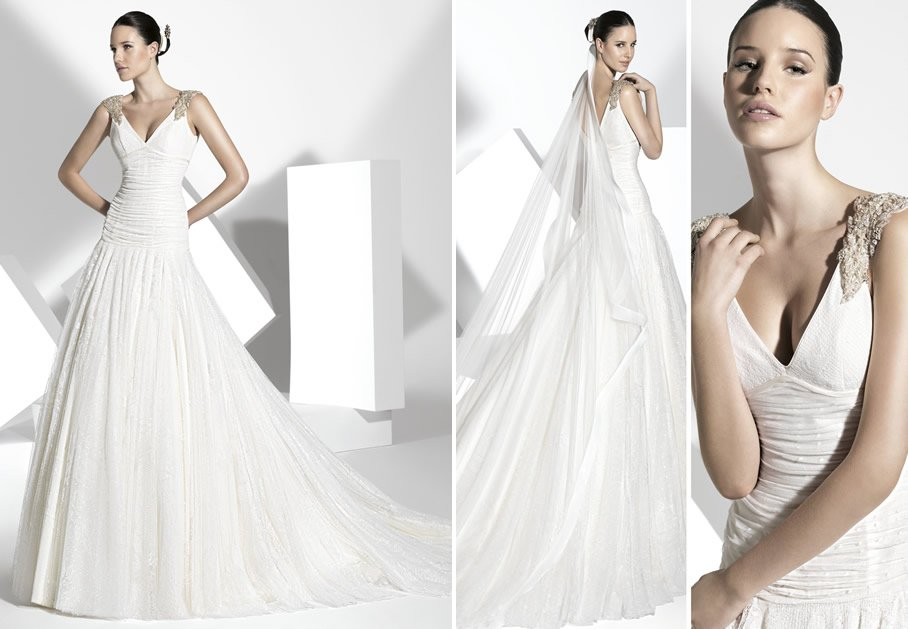 2013 wedding dress Franc Sarabia bridal gowns Spanish designers 5