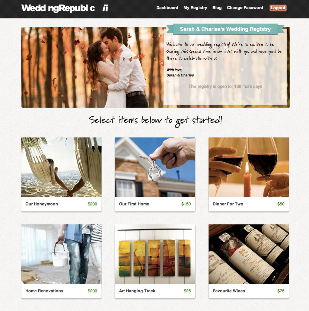 Online Wedding Registry To Help Nearlyweds Avoid Etiquette Donts