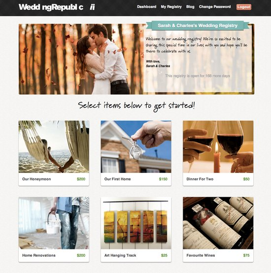online wedding registry to help nearlyweds avoid etiquette donts Wedding Republic 1