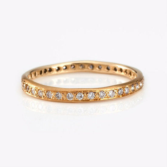 unique engagement rings and wedding bands by Satomi Kawakita yellow gold band
