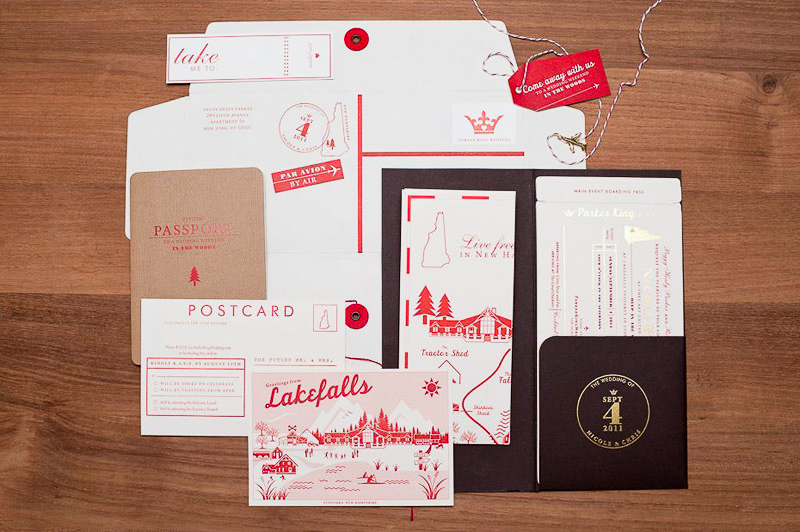 map inspired weddings travel themed wedding invitations and paper from Etsy red white cocoa