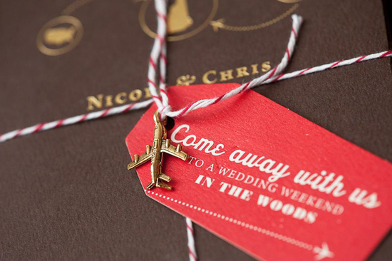 map inspired weddings travel themed wedding invitations and paper from Etsy gold red brown