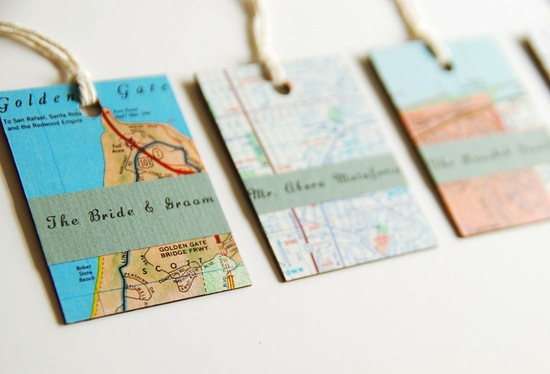 map inspired weddings travel themed wedding invitations and paper from Etsy escort cards