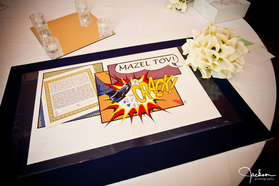 retro inspired wedding pop art Ketubah