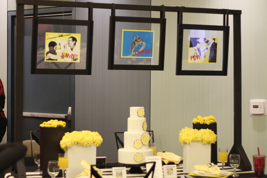 photo of creative wedding themes inspired by art Roy Lichtenstein retro weddings 1