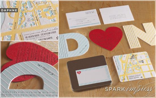 photo of unique wedding invitations letterpress wedding stationery urban love