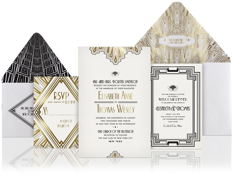 Unique-wedding-invitations-gold-black-white.full