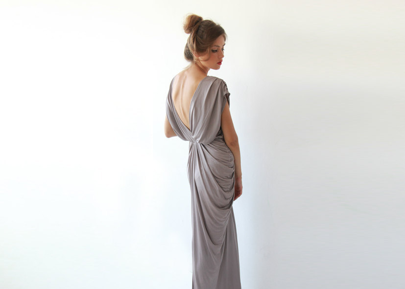 covetable bridesmaid dresses and wedding guest attire from Etsy pearl scoop neck