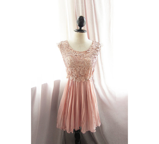pink black bridesmaid dress sheer illusion neckline