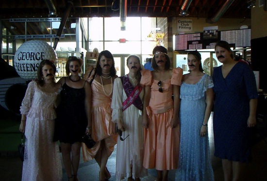 bad bridesmaid style ugly bridal party photos wedding fun mustaches