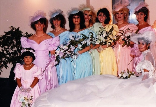 bad bridesmaid style ugly bridal party photos wedding fun pastels