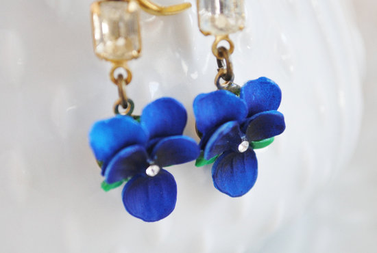 something blue bridal earrings vintage