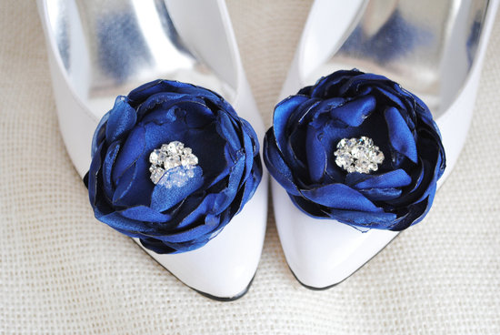 something blue wedding shoe clips